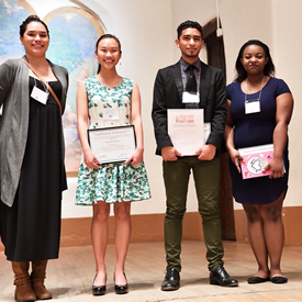 Michelle Zhou, Juan Andres Rodriguez, and D'Nessa McDaniel 2017 Poetry Out Loud Award Winners
