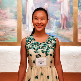 Michelle Zhou after being annouced 2017 New Mexico Poetry Out Loud Champion